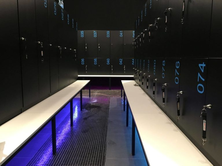 Lockers With a bench