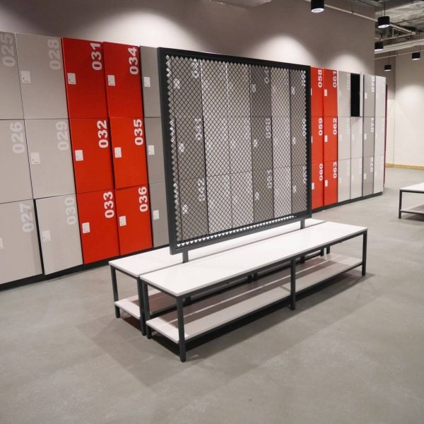 Metal lockers for changing room gym