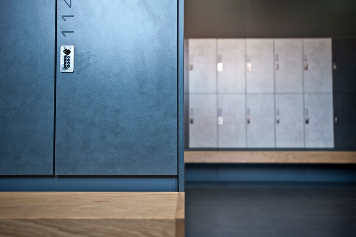 Gym lockers with bench design changing room premium
