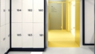 Clothing lockers for changing rooms