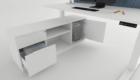 Electrically Adjustable Desk Cabinet