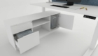 Desk cabinet for the office