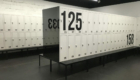 Metal lockers with benches