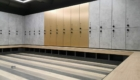 gym lockers and nech in locker room
